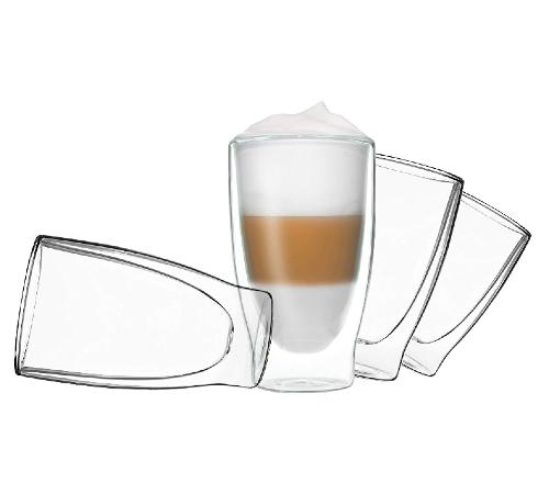 Dubbelwandige glazen, dubbelwandig glas, dubbelwandige theeglazen, dubbelwandige koffie glazen, dubbelwandig,thermoglas, glas 410ml