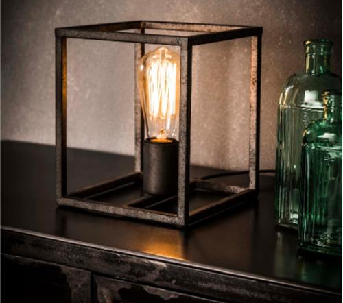 Tafellamp Cubic, industrial lamp, industriele lamp, hoge kwaliteit lamp