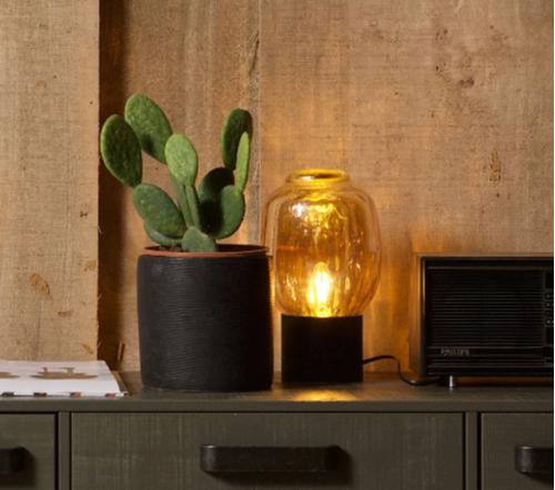 Tafellamp bubble, moderne lamp, trendy lamp, glazen lamp