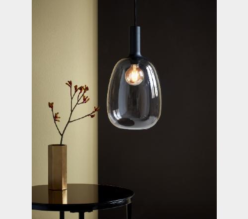 Alton 47303047, Alton 23 Gerookt Hanglamp Zwart E27, moderne hanglamp glas nordlux, trenchic