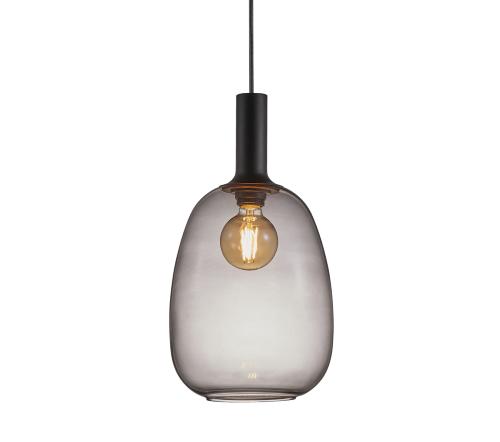 Alton 47303047, Alton 23 Gerookt Hanglamp Zwart E27, moderne hanglamp glas nordlux