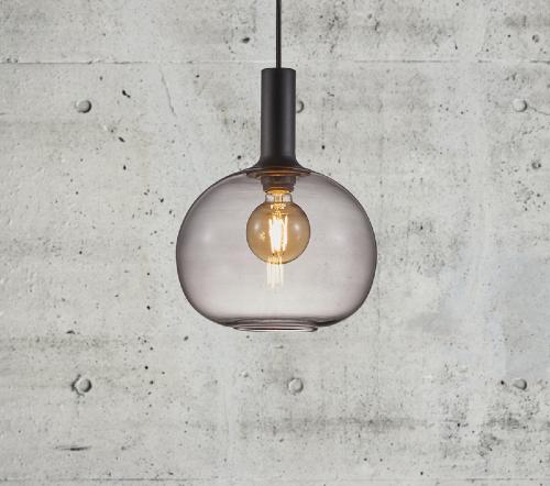 Alton 47313047, Alton 25 Gerookt Hanglamp Zwart E27, moderne hanglamp glas nordlux, glazen hanglamp