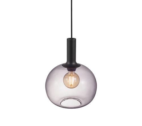 Alton 47313047, Alton 25 Gerookt Hanglamp Zwart E27, moderne hanglamp glas nordlux, trenchic
