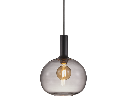 Alton 47313047, Alton 25 Gerookt Hanglamp Zwart E27, moderne hanglamp glas nordlux