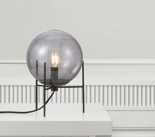 Alton 47645047, Alton 20 Gerookt Tafellamp Zwart E14, moderne tafellamp glas nordlux, trenchic tafellamp