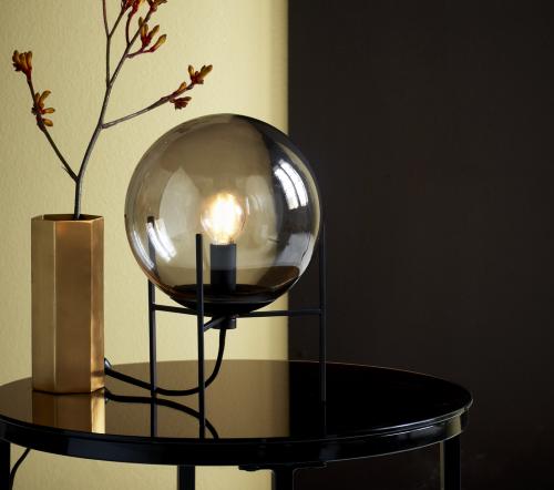 Alton 47645047, Alton 20 Gerookt Tafellamp Zwart E14, moderne tafellamp glas nordlux, trenchic