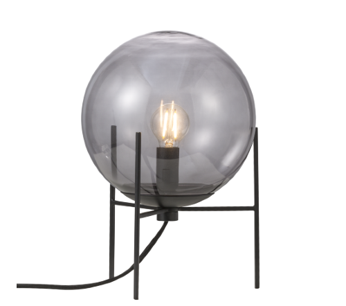 Alton 47645047, Alton 20 Gerookt Tafellamp Zwart E14, moderne tafellamp glas nordlux