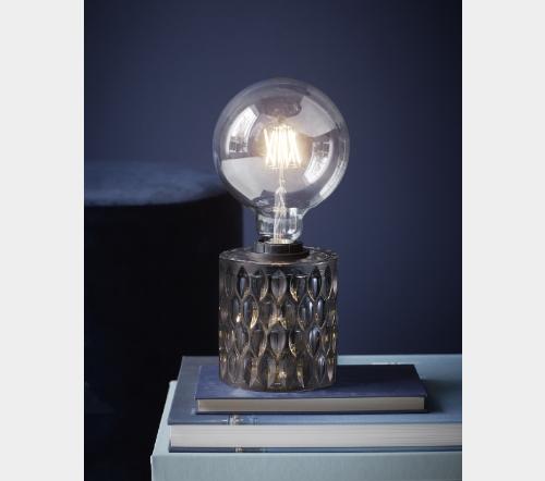 Hollywood 46645047, Hollywood Tafellamp Gerookt E27, trendy moderne tafellamp nordlux glas smoked, trenchic