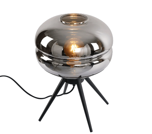 Tafellamp 'Fumer', moderne lamp, moderne tafellamp, trendy tafellamp, tafellamp zwart, moderne tafellamp zwart, glazen tafellamp zwart