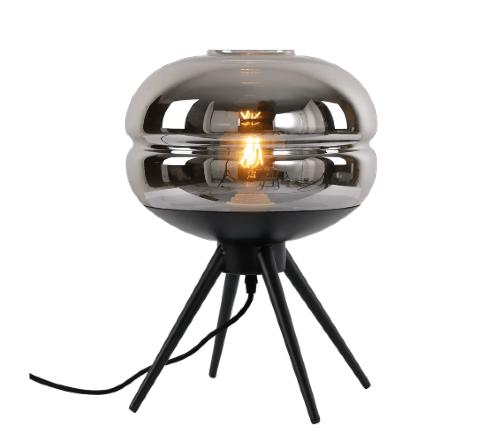 Tafellamp 'Fumer', moderne lamp, moderne tafellamp, trendy tafellamp, tafellamp zwart, moderne tafellamp zwart