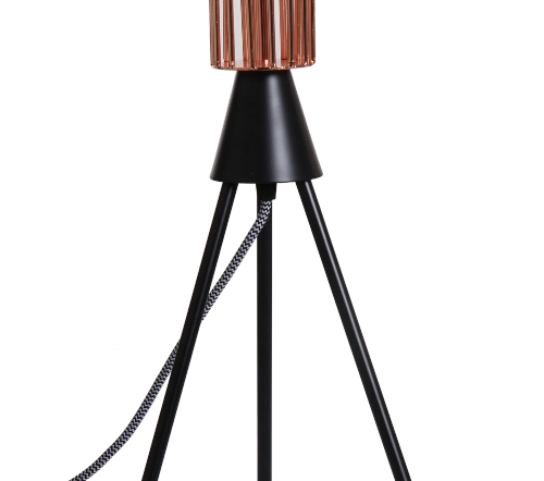 Tafellamp 'Hars', industriele lamp, industrial lamp, industriele tafellamp koper, moderne lamp, trendy lampen