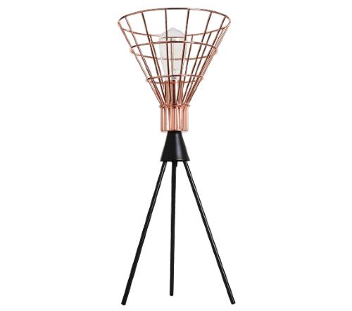 Tafellamp 'Hars', industriele lamp, industrial lamp, industriele tafellamp koper, moderne lamp