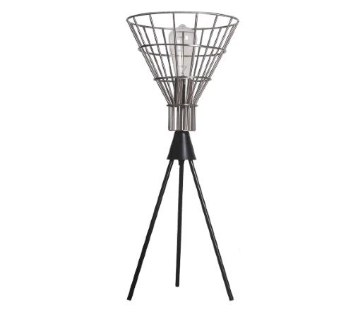 Tafellamp 'Hars', industriele lamp, industrial lamp, industriele tafellamp zilver, moderne lamp