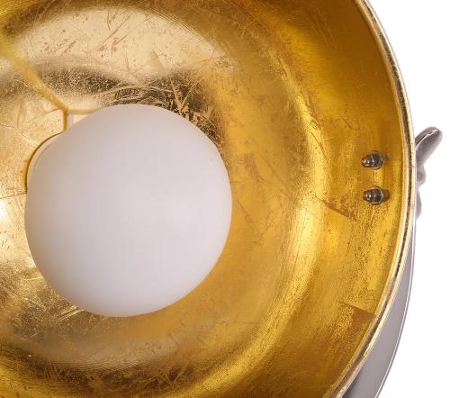 Tafellamp 'buk', industriele tafellamp, industrial table lamp, industriele lamp, industriele lamp goud met wit, moderne lamp, trenchic