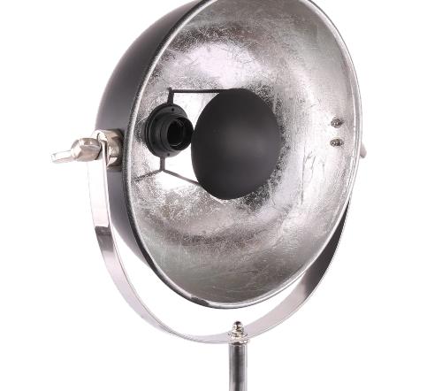 Tafellamp 'buk', industriele tafellamp, industrial table lamp, industriele lamp, industriele lamp zilver met zwart, moderne lamp. tafellamp zwart, trendy lampen