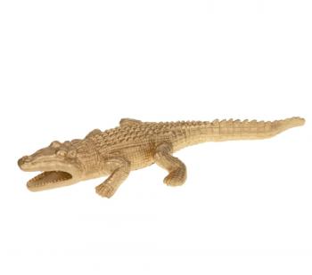 Beeldje 'Krokodil', trendy beeldje krokodil goud, gouden krokodil beeldje, jungle mush collectie