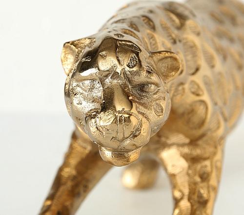Beeldje 'Panter', trendy beeldje luipaard goud, gouden luipaard beeldje, jungle mush collectie, trenchic