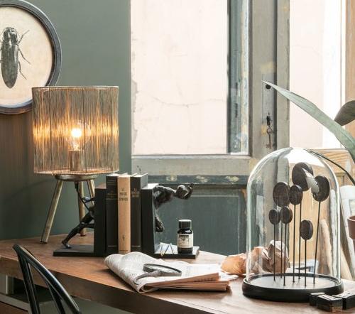 Tafellamp 'Jungles', trendy tafellamp bruin, safari tafellamp trenchic, jungle mush collectie, 1