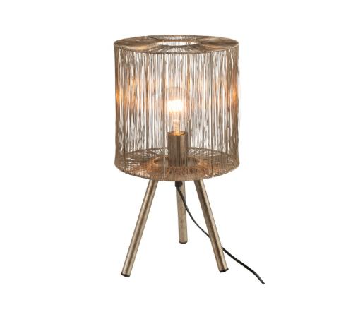 Tafellamp 'Jungles', trendy tafellamp bruin, safari tafellamp trenchic, jungle mush collectie