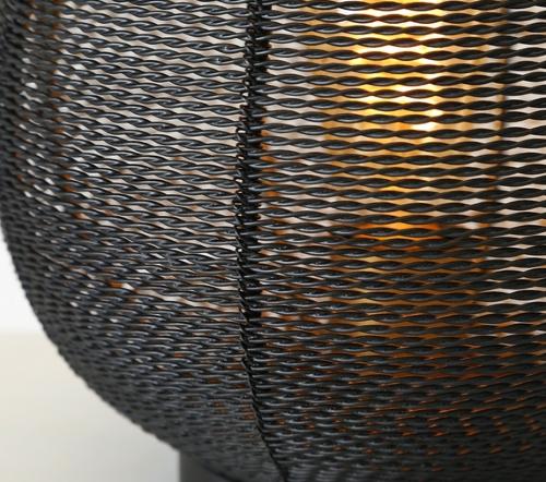 Tafellamp 'Safari', jungle mush collectie, moderne tafellamp zwart goud, trendy tafellamp