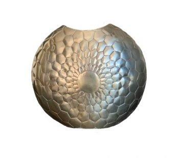 Vaas 'Moon', moderne metalen vaas, gouden vaas, decoratie vaas, trendy gouden vaas, jungle mush collectie