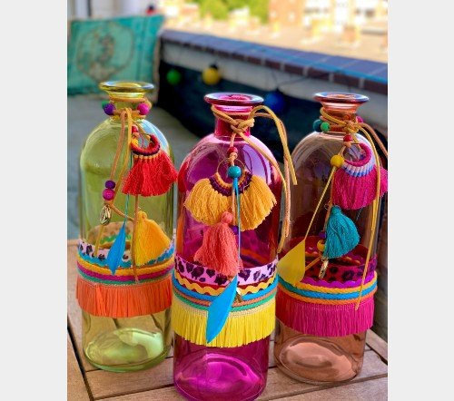 Vaas 'ibiza' collectie, jungle mush collectie, trendy glazen vazen