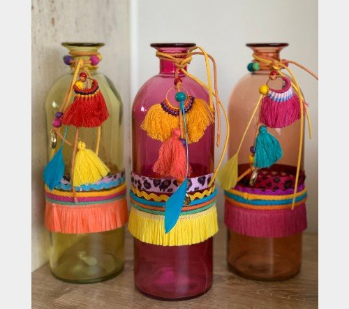 Vaas 'ibiza' collectie, jungle mush collectie, trendy glazen vazen,2