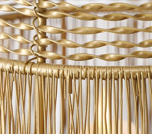 Windlicht 'Goldiny', gouden windlicht, trendy gouden windlicht, jungle mush collectie, trenchic