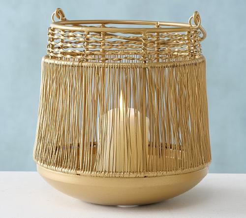 Windlicht 'Goldiny', gouden windlicht, trendy gouden windlicht, jungle mush collectie