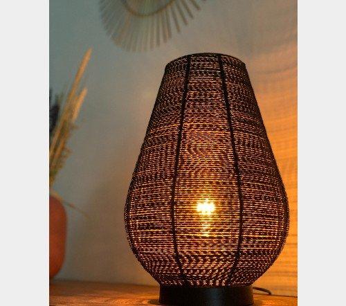 Tafellamp 'Safari', Trendy tafellamp zwart met goud, jungle mush, 3, tafellamp zwart metaal