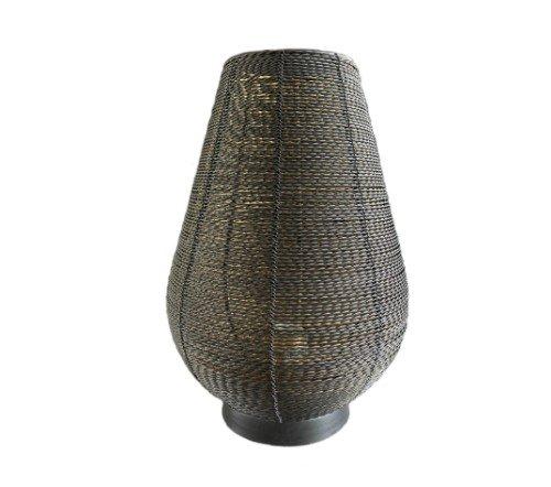 Tafellamp 'Safari', Trendy tafellamp zwart met goud, jungle mush, tafellamp zwart metaal
