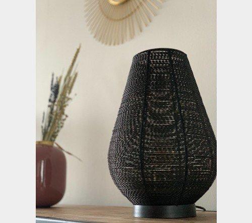 Tafellamp 'Safari', Trendy tafellamp zwart met goud, jungle mush,4, tafellamp zwart metaal