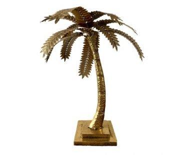 Kaarshouder 'palm', gouden palmboom kaarsen houder, gouden palm boom voor kaars, jungle mush collectie, gouden kaarsenhouder