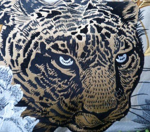 Kussen 'Leopard head', trendy kussen, decoratieve kussen luipaarden hoofd, dieren kussen, Kussen Leopard head CO 60x35, junglemush, trenchic,2