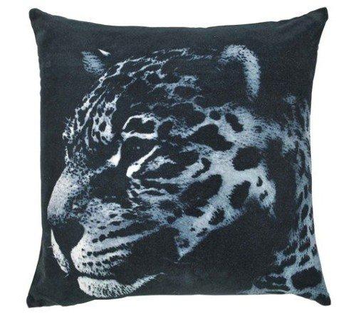 Kussen 'Leopard', sierkussens, dierenkussens, junglemush, trenchic,Decoratie kussen, 45x45 fluweel zwart, 2105209582505-Jungle