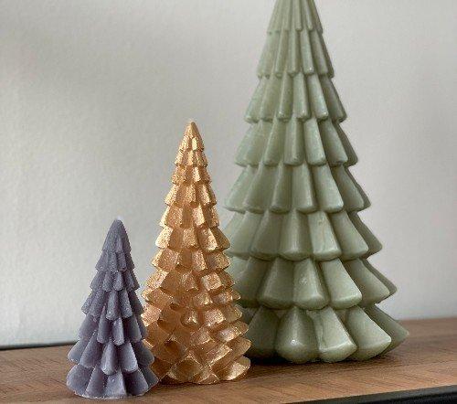 Kaarsen 'Kerstboom', sfeervolle kaarsen, kerstboom kaars, grote kaars, trenchic, junglemush, 1112619-Jungle-3