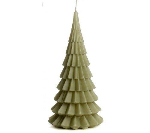 Kaarsen 'Kerstboom', sfeervolle kaarsen, kerstboom kaars, grote kaars, trenchic, junglemush, 1112652-Jungle