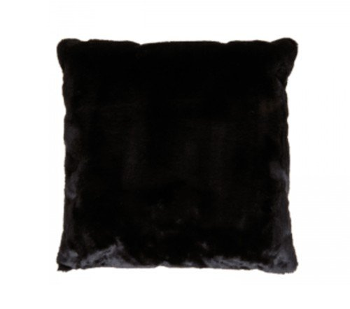 Sierkussen 'fur', trendy sierkussens, zachte sierkussens, zwarte kussens, trenchic, junglemush, 128684-Jungle
