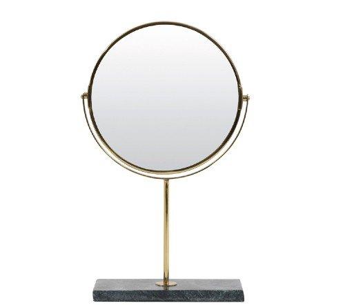 Spiegel 'Angle', trendy spiegel, staande spiegel, makeup spiegel, groene staande spiegel goud, junglemush, trenchic, 7309381-Jungle-2