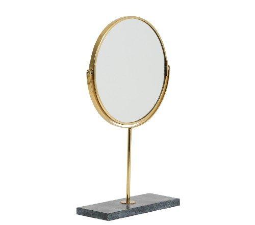 Spiegel 'Angle', trendy spiegel, staande spiegel, makeup spiegel, groene staande spiegel goud, junglemush, trenchic, 7309381-Jungle-3