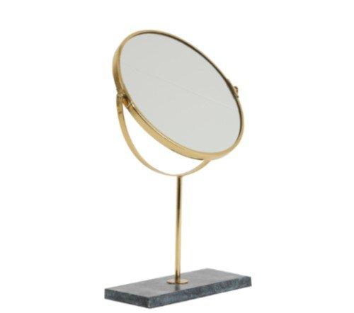 Spiegel 'Angle', trendy spiegel, staande spiegel, makeup spiegel, groene staande spiegel goud, junglemush, trenchic, 7309381-Jungle-4