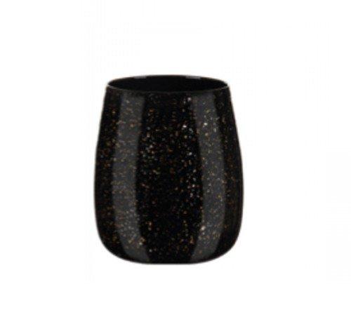 Vaas 'Gold', trendy vaas, glazen vaas, zwarte vaas met goud, trenchic, junglemush, 128436-Jungle