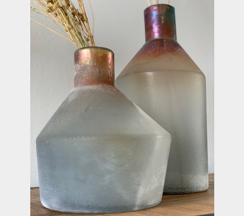 Vaas 'Stone', trendy vaas, glazen vaas, mooie vaas, trenchic, junglemush, 020829-Jungle