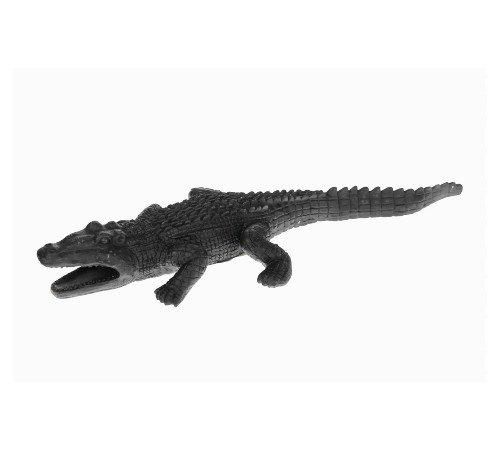 Beeldje 'krokodil', trendy beeldje krokodil zwart, jungle beeldje zwart, 37531-074-Jungle