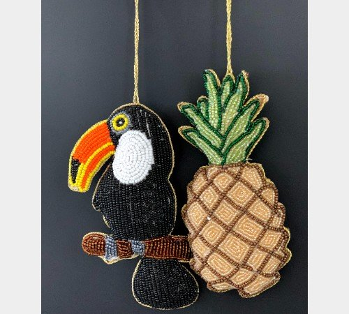 Kersthanger 'Ananas', trendy kersthanger ananas, speciale kersthangers, MAS-4312-Jungle, 3