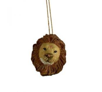 Kersthanger 'Lion', trendy kersthanger lion, speciale kersthangers, bruin kersthangers, 201218-Jungle, MAS-4142-Jungle