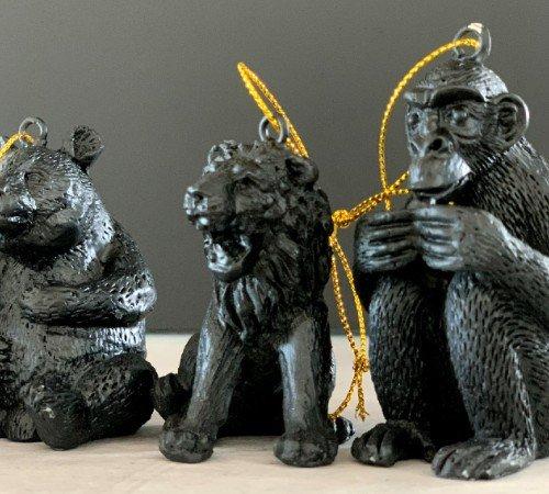 Kersthanger 'Lion', trendy kersthanger lion, speciale kersthangers, zwarte kersthangers, 201220-Jungle, 2