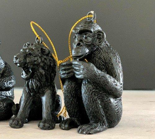 Kersthanger 'Monkey', trendy kersthanger panda, speciale kersthangers, zwarte kersthangers, 201222-Jungle, 2