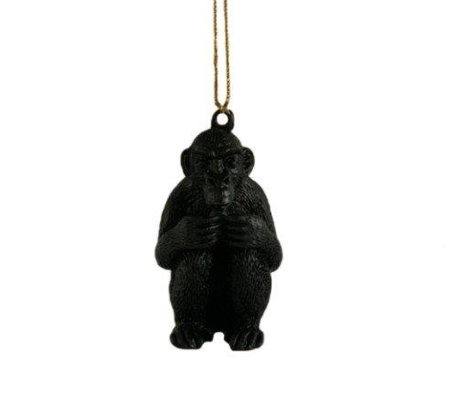 Kersthanger 'Monkey', trendy kersthanger panda, speciale kersthangers, zwarte kersthangers, 201222-Jungle