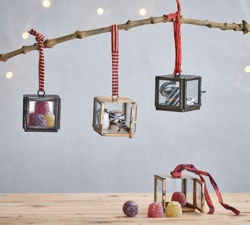 Nkuku 'Kiki box', Duurzame kersthanger, Brons ø4.5 cm 2 stuks, kerstboom versiering, kerst versiering, ND0501-PROS, 3